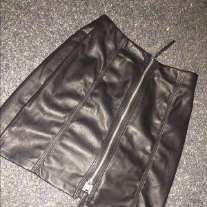 H&M Faux Leather Mini Skirt